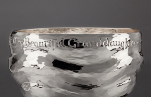 Christening bowl with engraving