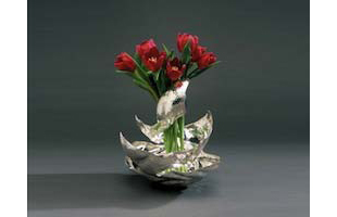 Flamingo vase
