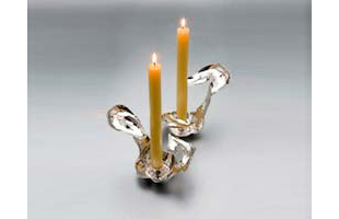 Flamingo candle holder